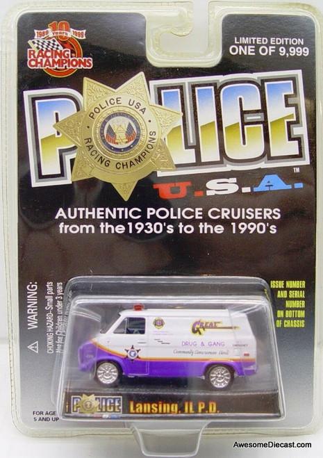 Racing Champions 1975 Chevrolet van 'Lansing IL Police Department'