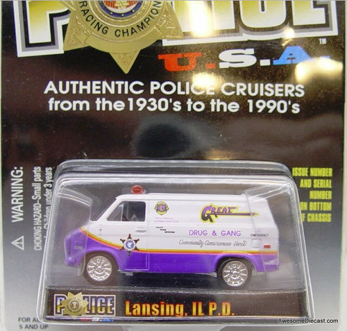 Racing Champions 1975 Chevrolet van 'Lansing IL Police Department'