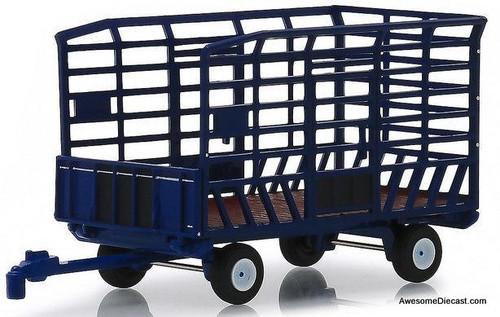 Greenlight 1:64 Bale Throw Wagon, Blue