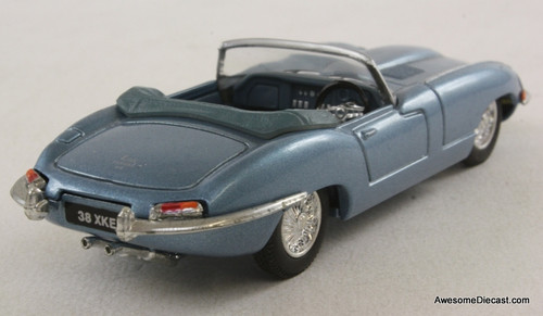 Corgi 1:43 Jaguar E Type Convertible RHD, Metallic blue