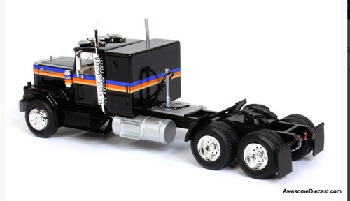 Advantage Diecast 1:64 1977 Chevrolet Bison Sleeper Cab Tandem Axle Road Tractor , Black