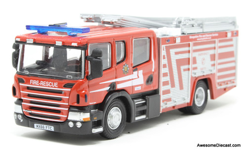 Oxford Diecast 1:76 2016 Scania CP31  Pump Ladder: Shropshire Fire And Rescue Service