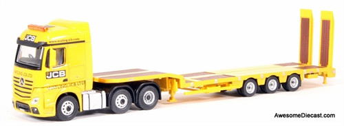 Oxford 1:76 Mercedes Benz Actros Low Loader: JCB Machinery