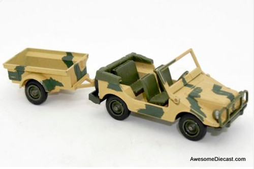 ONLY ONE! Solido 1:43 Military Jeep with Trailer