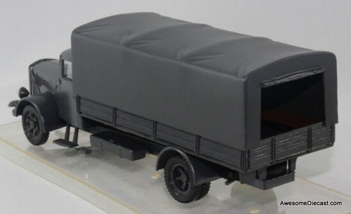 Vitesse 1:43 Saurer S4C Military Canvas Covered Truck, Gray
