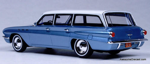 Goldvarg Collection 1:43 1962 Buick Special Station Wagon, Metallic Blue