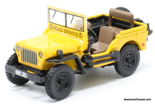 Oxford 1:76 Willys Jeep: Automobile Association  Road Service