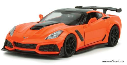 Motormax 1:24 2019 Chevrolet Corvette ZR1, Orange