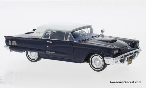 NEO 1:43 1960 Ford Thunderbird Hardtop, Metallic Dark Blue/White