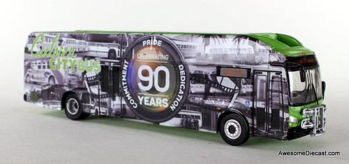 Iconic Replica 1:87 New Flyer xcelsior CNG Transit Bus:  Culver City 90th Anniversary