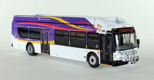 Iconic Replica 1:87 New Flyer XN40 xcelsior Transit Bus: Glendale Beeline, CA