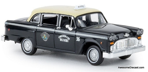Brekina 1:87 Checker Taxi Cab: Dallas