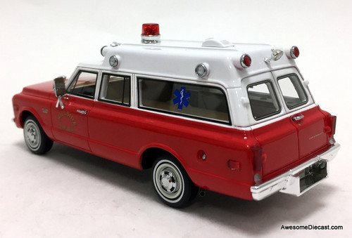 Neo 1:43 1970 Chevrolet Suburban Ambulance: Hillside Fire Department