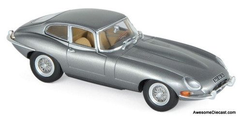 Norev 1:43 1964 Jaguar E Type Coupe, Metallic Gray