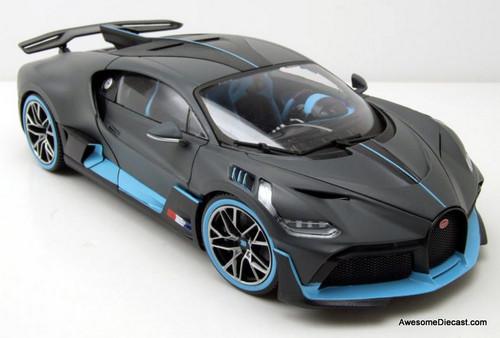 Burago 1:18 2018 Bugatti Divo, Metallic Gray