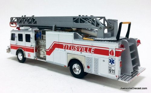 Corgi 1:50 E-One 75' Ladder: Titusville, Florida Fire Department