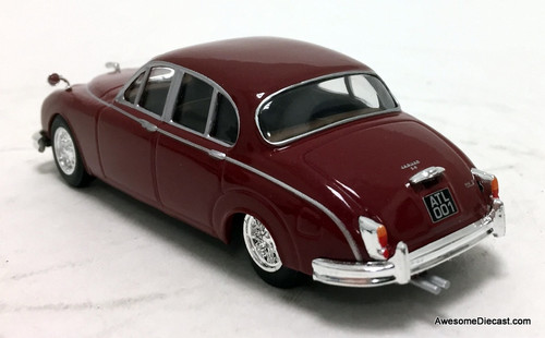 Atlas 1:43 1967 Jaguar Sedan MK2 3.8, Burgandy