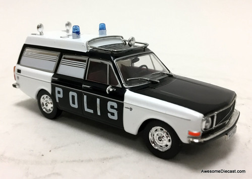 Atlas 1:43 Volvo 145 Station Wagon: Stockholm Police Force