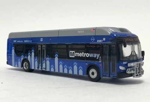 Iconic Replicas 1:87 New Flyer xcelsior XN40 Transit Bus: Washington Metroway