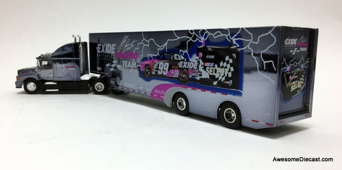 Racing Champions 1:64 NASCAR  Ford LN9000 w/ Car Transporter Trailer: Team Exide / Jeff Burton  Team, Jeff Burton