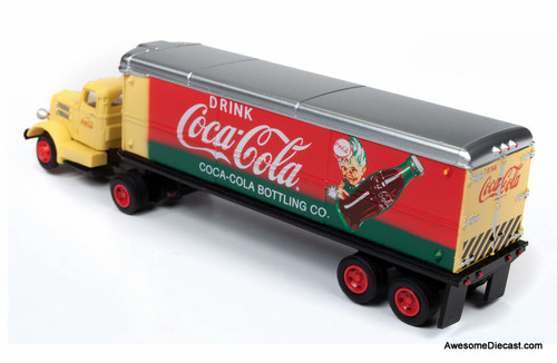 Classic Metal Works 1:87 White WC22 Tractor & Trailer, Coca Cola