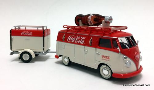 Motor City Classics 1:43 1960 Volkswagen T1 w/ Cooler Trailer: Coca Cola