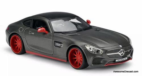 Maisto 1:24 Mercedes Benz AMG GT, Dark Metallic Gray