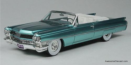 Goldvarg Collection 1:43 1964 Cadillac DeVille Convertible, Aquamarine