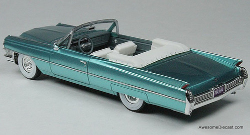 Goldvarg Collection 1:43 1964 Cadillac DeVille Convertible, Aquamarine