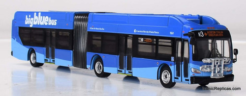 Iconic Replicas 1:87 NFI XN60 Xcelsior Articulated Bus: Santa Monica Big Blue Bus