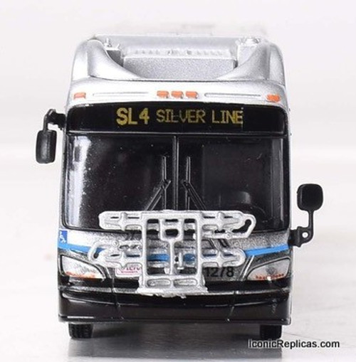 Iconic Replicas 1:87 NFI XN60 Xcelsior Articulated Bus: Boston Silver Line
