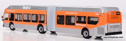 Iconic Replicas 1:87 NFI XN60 Xcelsior Articulated Bus: METRO Los Angeles