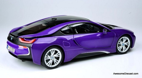 Paragon Models 1:18 BMW i8, Metallic Purple