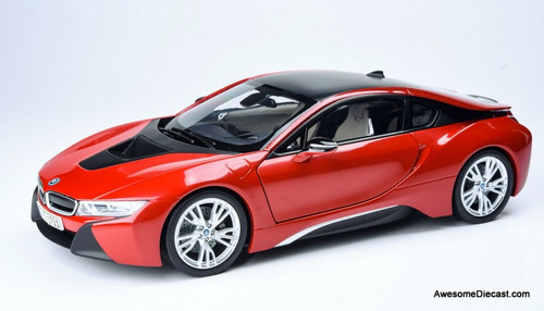 Paragon Models 1:18 BMW i8, Red/Black