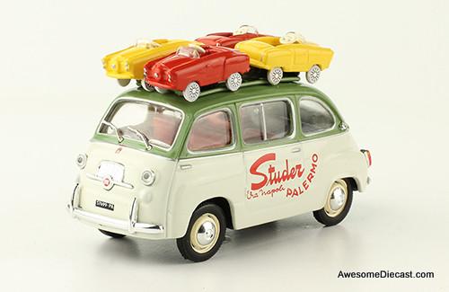 IXO 1:43 1959 Fiat 600  Multipla: Studer Palermo, With 4 Micro Cars