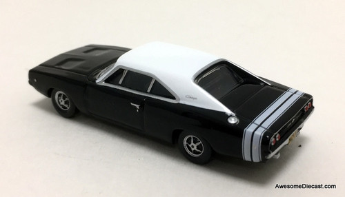 Oxford 1:87 1968 Dodge Charger, Black/White