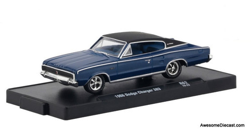 M2 Machines 1:64 1966 Dodge Charger, Blue