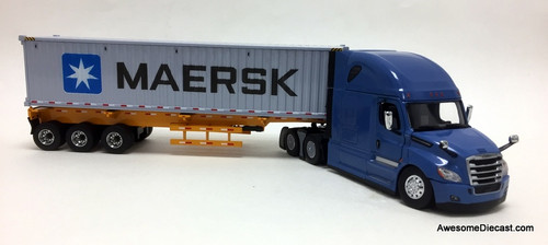 Diecast Masters 1:50 Freightliner Cascadia w/ Trailer & 40' Dry Goods Sea Container: MAERSK