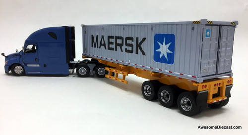 Diecast Masters 1:50 Freightliner Cascadia with Trailer And 40' Dry Goods Sea Container
