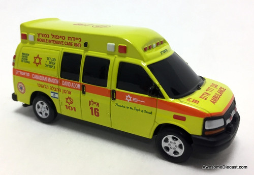 Iconic Replicas 1:64 Chevrolet Ambulance: Canadian Magen David Adom