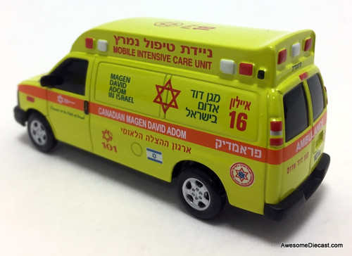 Iconic Replicas 1:64 Chevrolet Ambulance: Canadian Magen David Adom