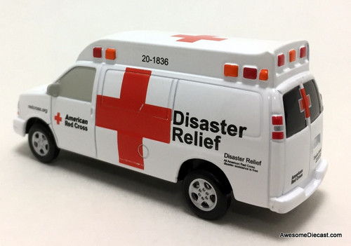 Iconic Replicas 1:64 Chevrolet Ambulance: American Red Cross Disaster Relief Unit