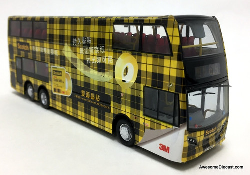 Network Shuttle 1:76 Alexander Dennis Enviro 500 MMC Double Decker: 3M Scotch Tape Livery, Yellow