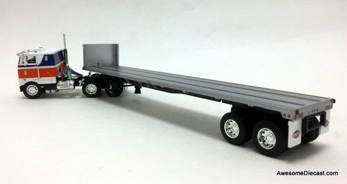 "DCP by FG 1:64 Peterbilt 352 COE 86"" Sleeper W/Flatbed Trailer"