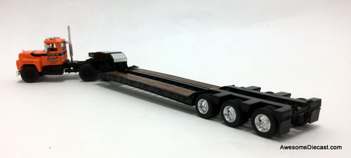 First Gear 1:64 Mack R Model Day Cab W/Talbert Tri-Axle Lowboy: J.V. 111 Construction