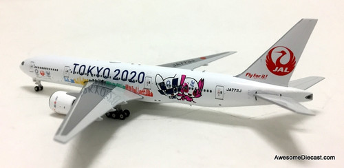 Phoenix 1:400 Boeing 777-200: Japan Airlines, Tokyo 2020 Livery