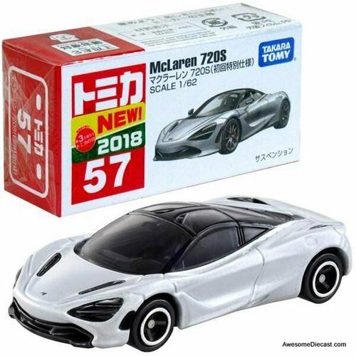 Tomica 1:62 McLaren 720s, Metallic Silver