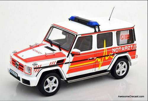 I-Scale 1:18 2015 Mercedes Benz G-Class: German Emergency Services / Doctor Unit