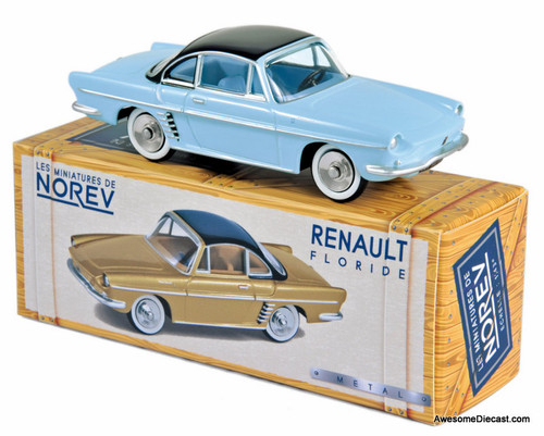 Norev 1:43 1959 Renault Floride Coupe, Blue/Black