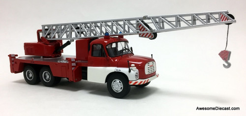 Schuco 1:43 1968 Tatra T148 Fire Department Heavy Rescue Crane: Prague Fire Service
